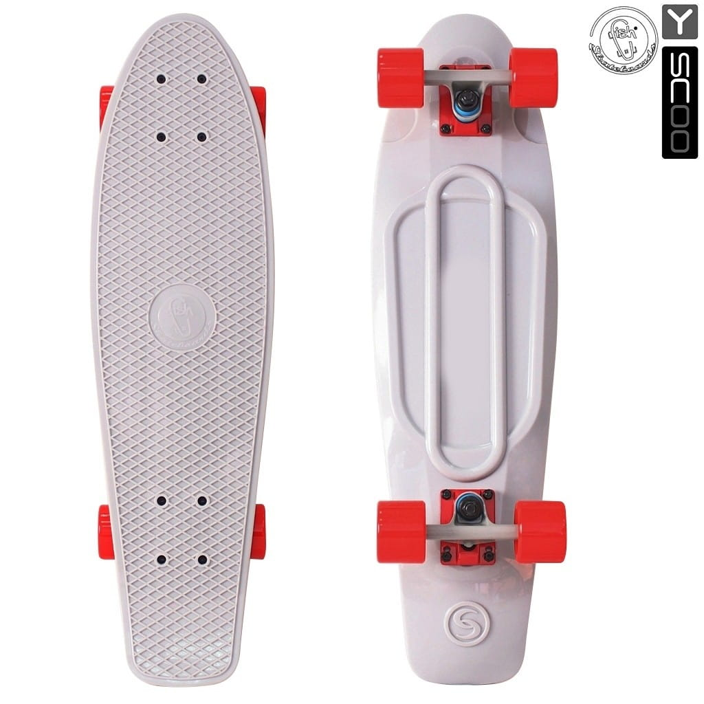 Скейтборд Y-Scoo 5930 Fishskateboard 27 дюймов - Grey-red