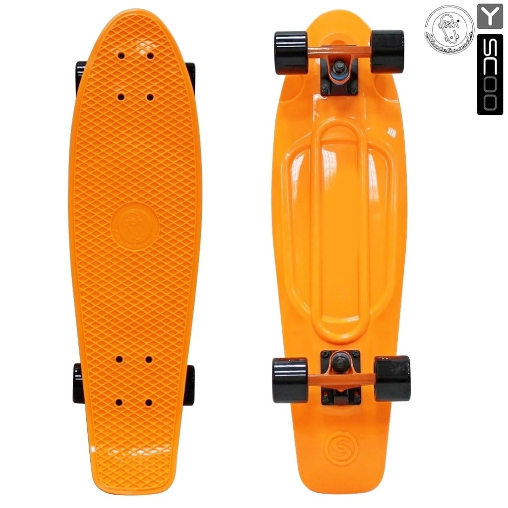 Скейтборд Y-Scoo 5928 Fishskateboard 27 дюймов - Orange-black
