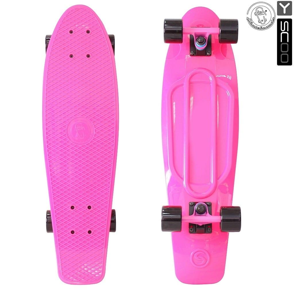 Скейтборд Y-Sсoo 5926 Fishskateboard 27 дюймов - Pink-black