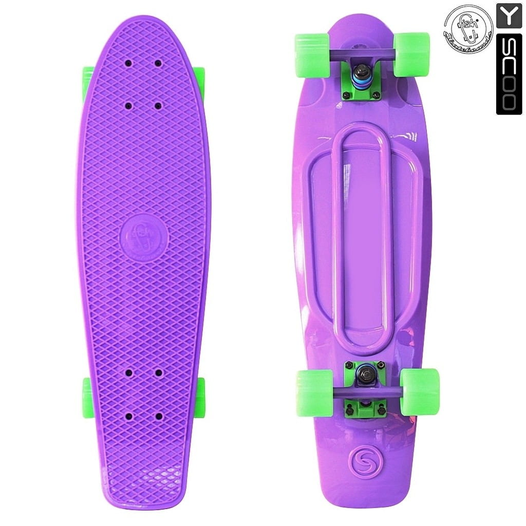 Скейтборд Y-Scoo 5927 Fishskateboard 27 дюймов - Purple-green