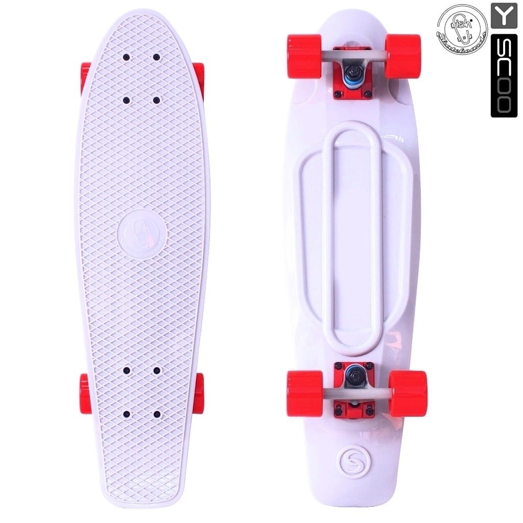 Скейтборд Y-Scoo 5932 Fishskateboard 27 дюймов - White-red