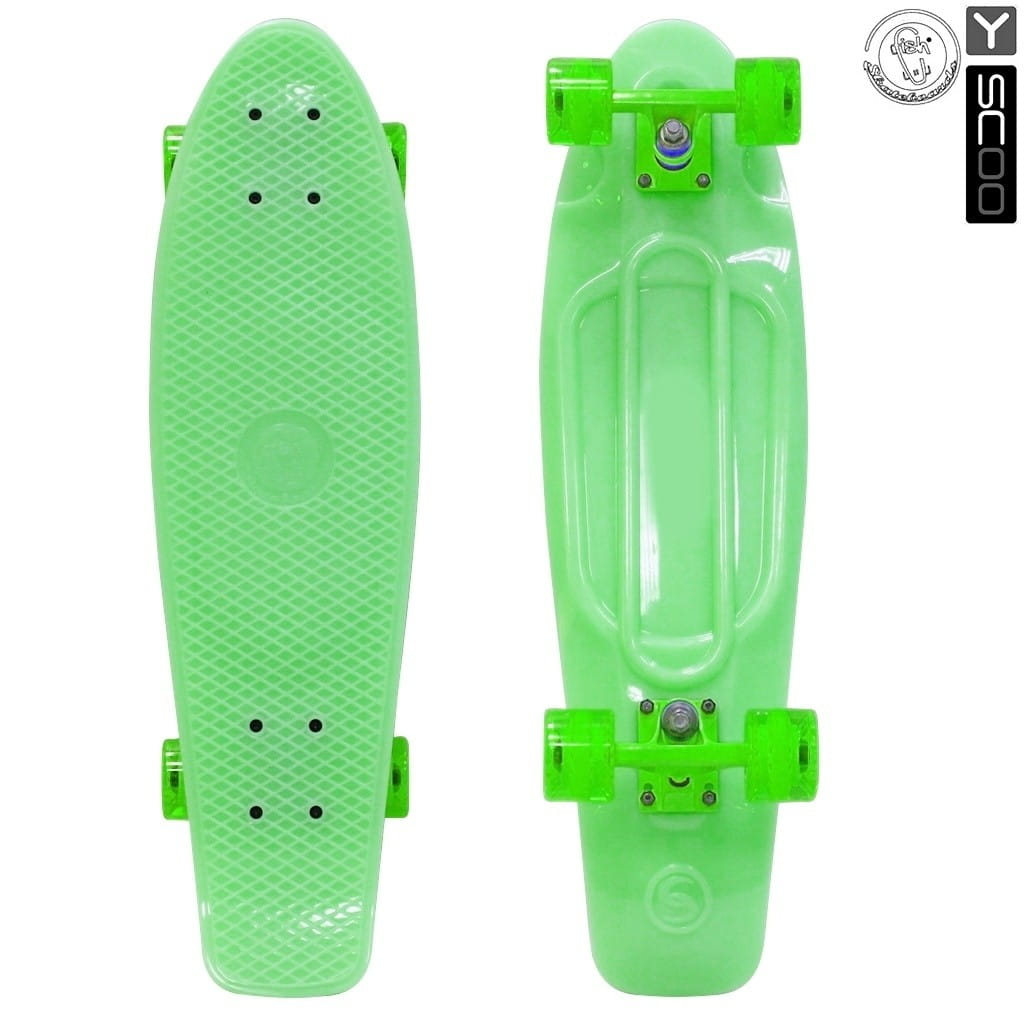 Скейтборд Y-Sсoo 5941 Fishskateboard Glow 27 дюймов - Green