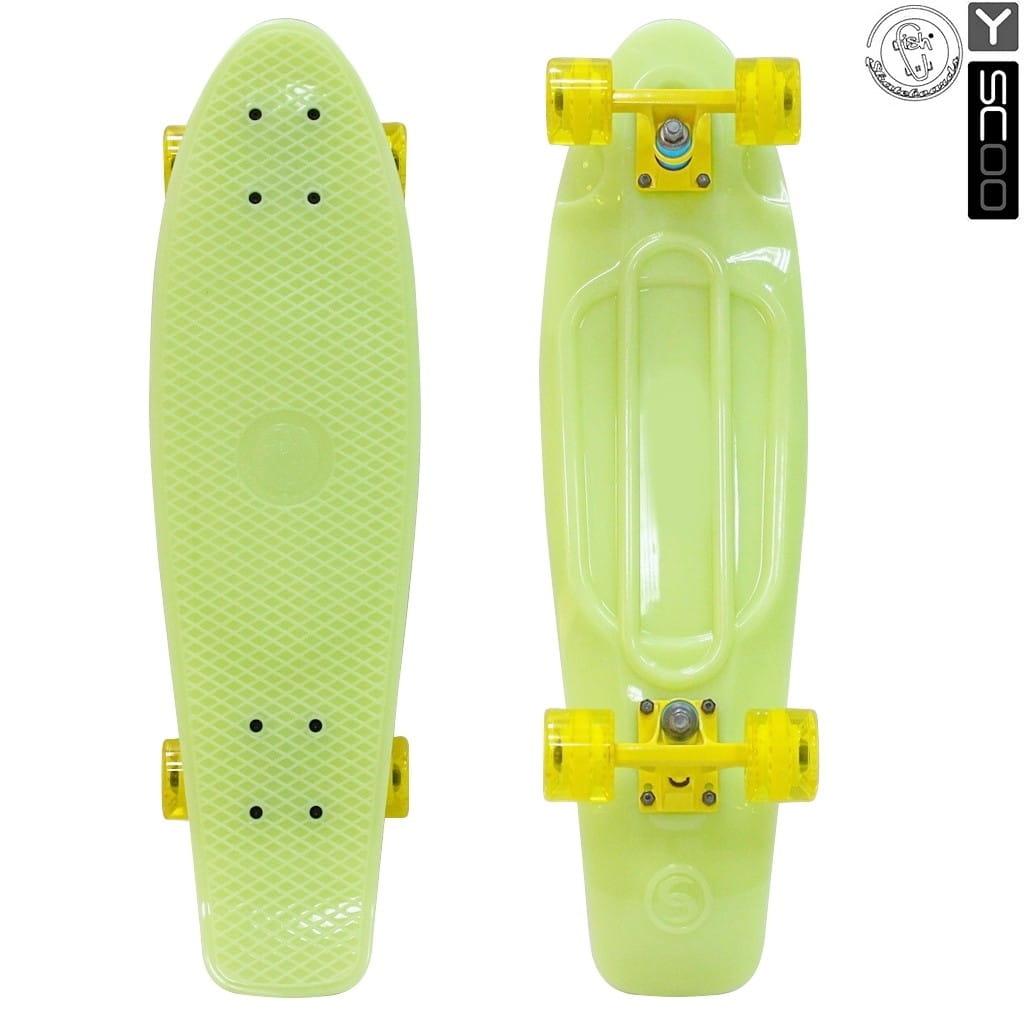 Скейтборд Y-Sсoo 5942 Fishskateboard Glow 27 дюймов - Yellow