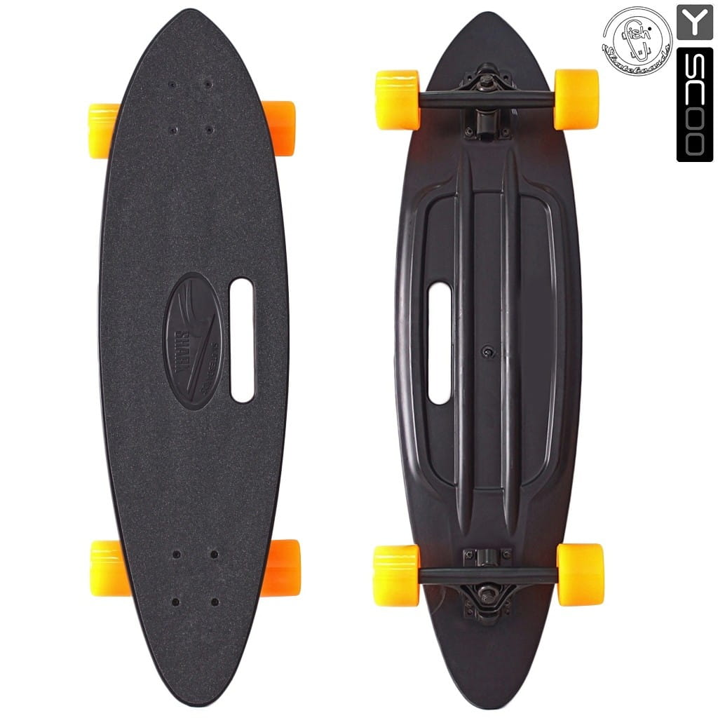Скейтборд Y-Sсoo 5939 Longboard Shark 31 дюйм - Black-orange