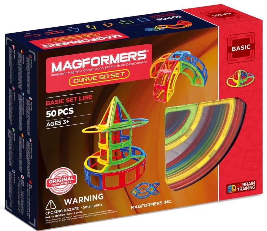 Магнитный конструктор Magformers 701012 Curve 50 Set (50 деталей)