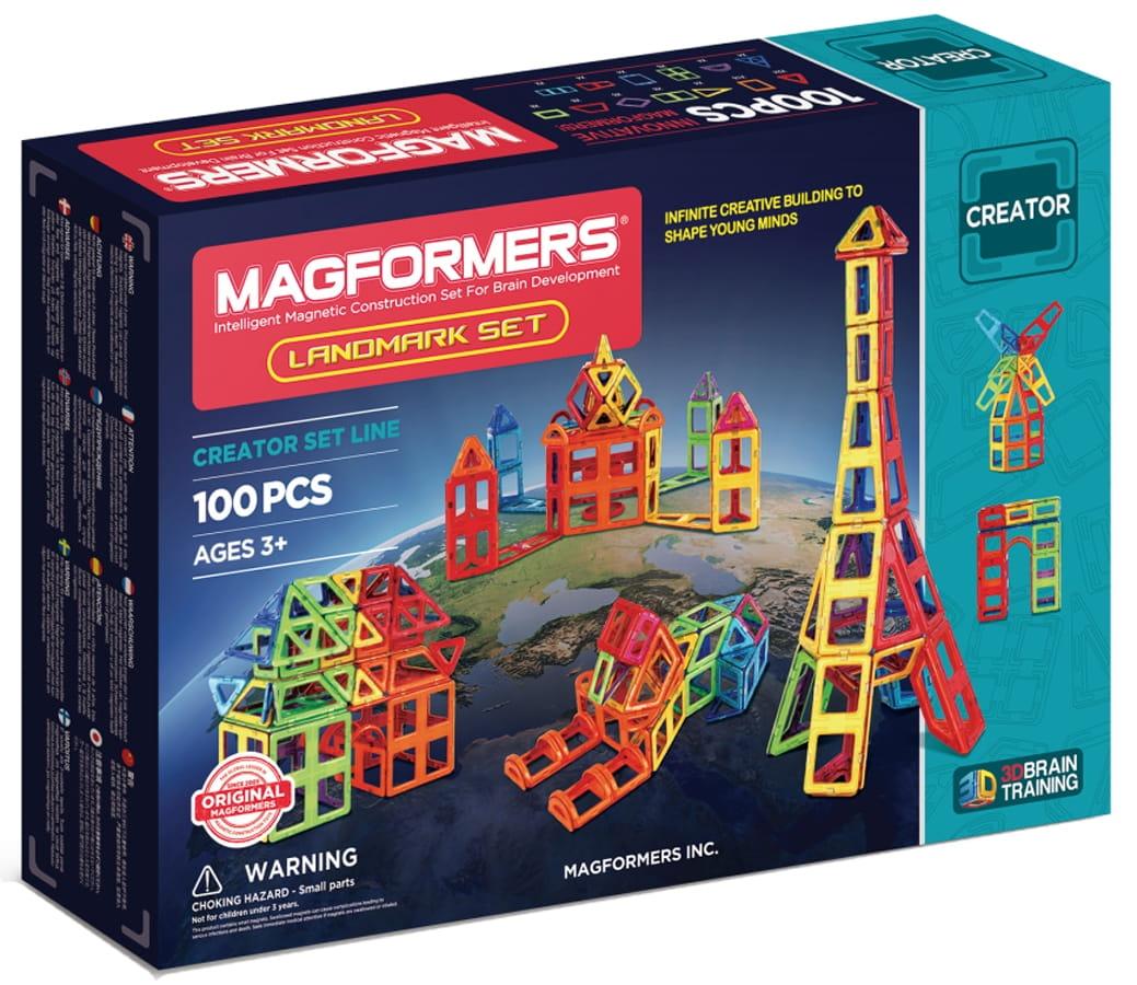 Магнитный конструктор Magformers 703008 Landmark set (100 деталей)
