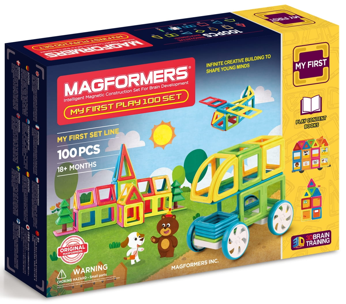 Магнитный конструктор Magformers 702012 My First Play (100 деталей)