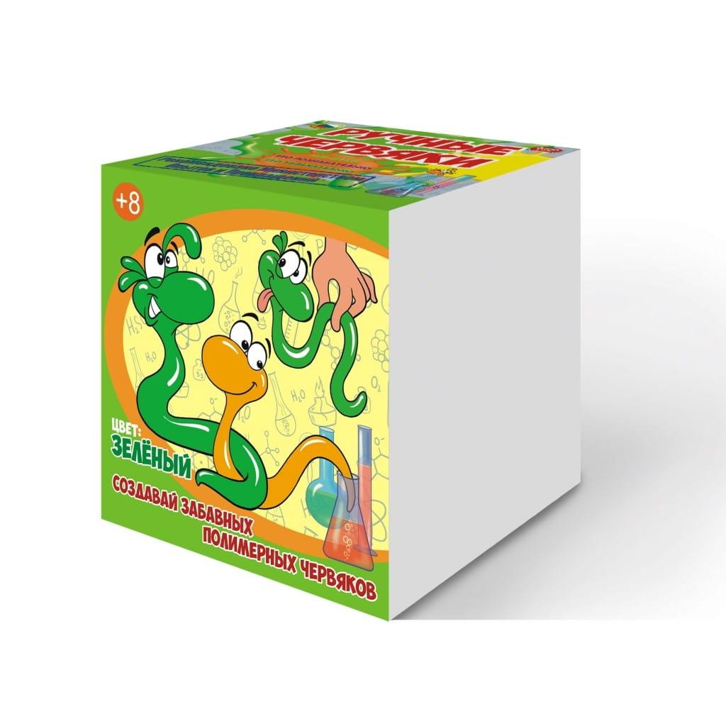 Набор для опытов Good Fun GF002G Цветные полимерные червяки - зеленый