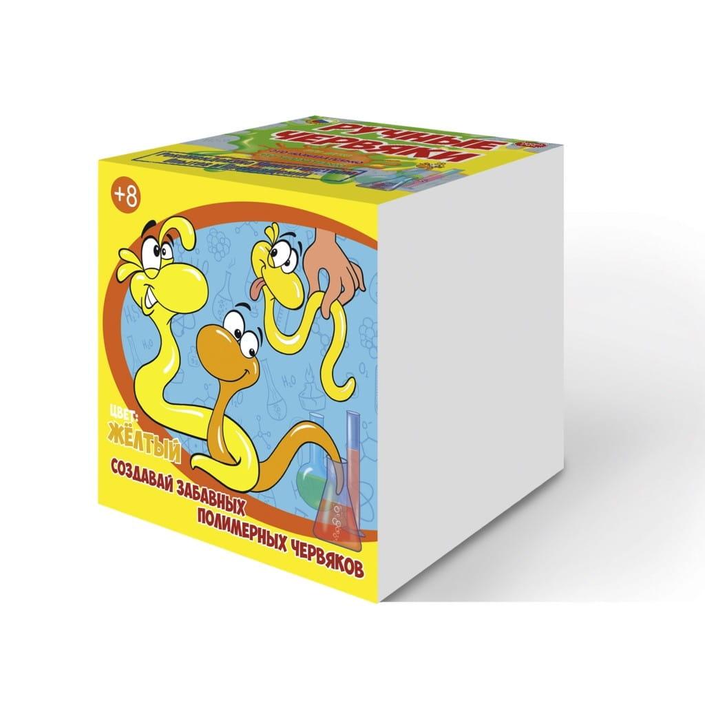 Набор для опытов Good Fun GF002Y Цветные полимерные червяки - желтый