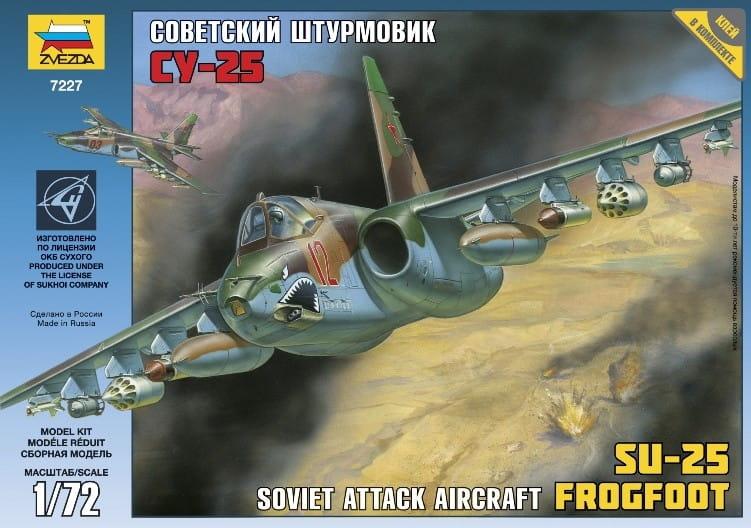 Сборная модель Звезда 7227 Самолет Су-25