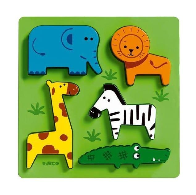 Рамка-вкладыш Djeco Животные Африки Сафари