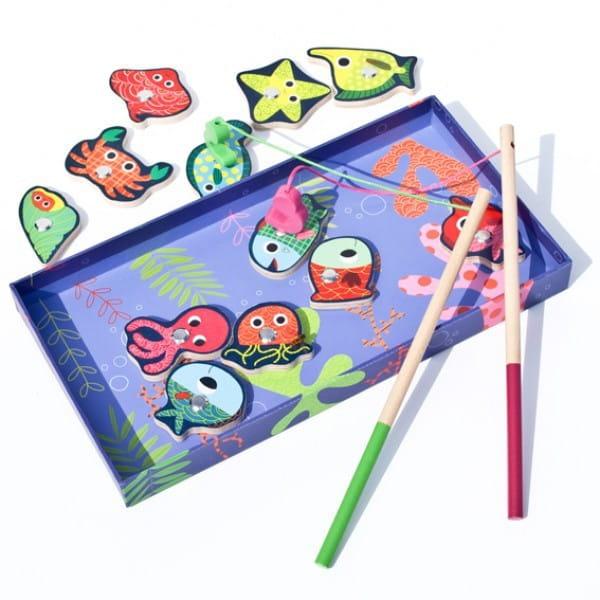 Магнитная игра Djeco Рыбалка Цвета