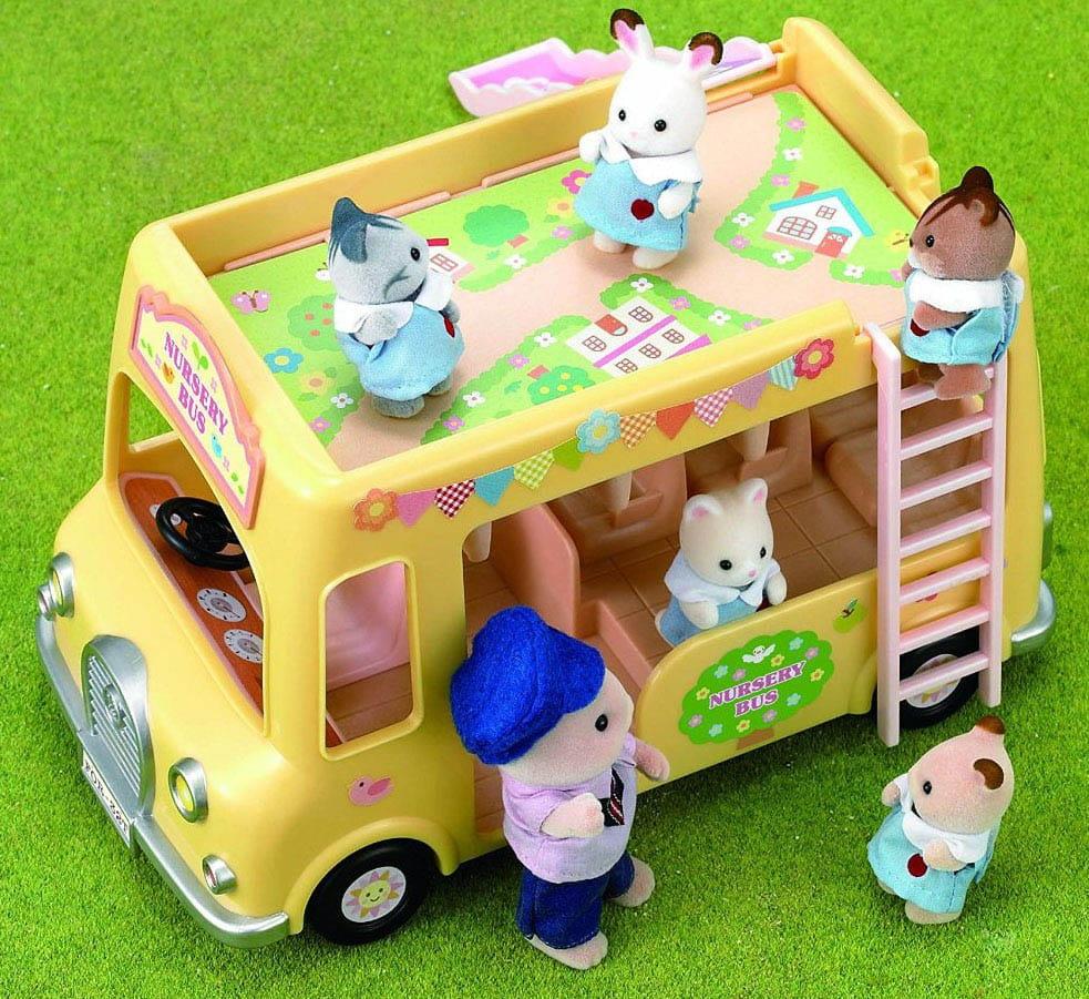 Купить Игровой набор Sylvanian Families Двухэтажный автобус для малышей в интернет магазине игрушек и детских товаров