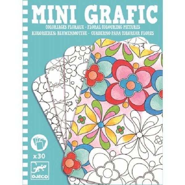 Мини-игра Djeco 05380 Цветочные раскраски