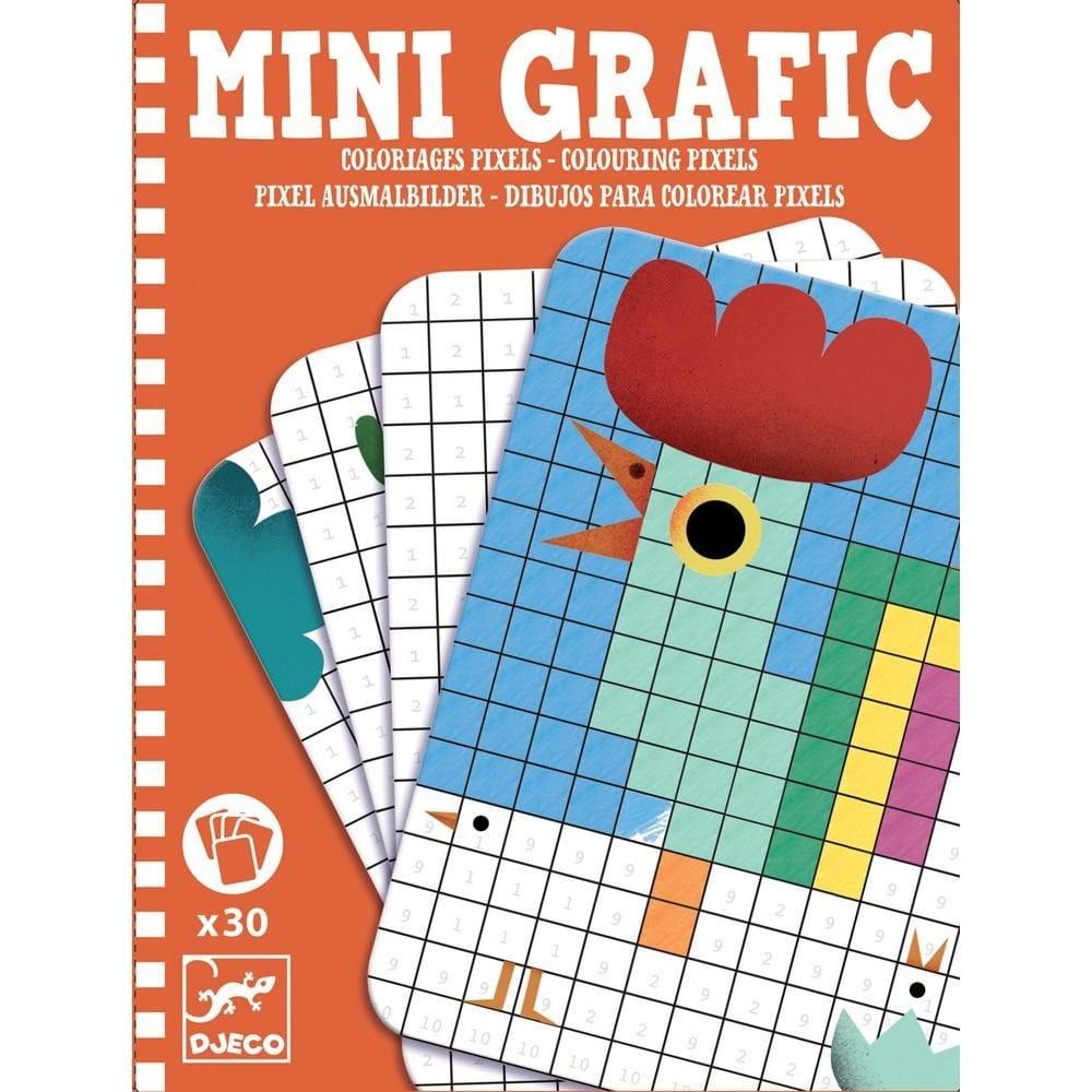 Мини-игра Djeco 05388 Раскраска Пиксель