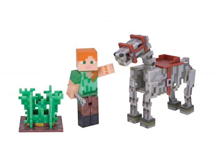 Игровой набор Minecraft Т59993 Алекс со скелетом лошади