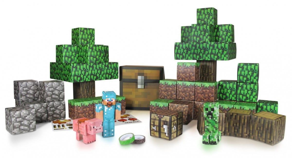 Конструктор из бумаги Minecraft 16721 Большой набор Делюкс (90 деталей)