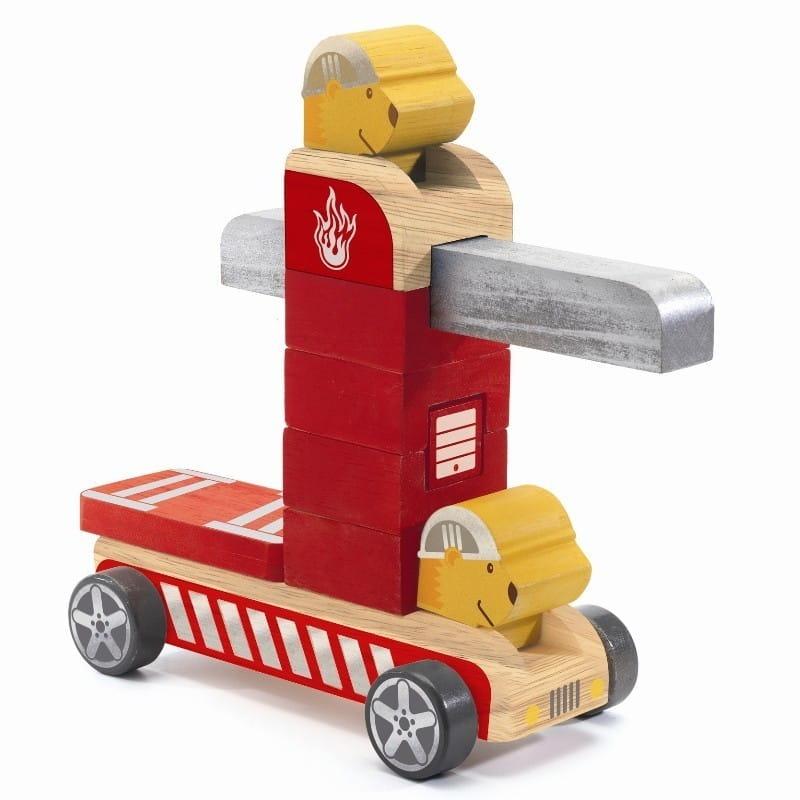 Деревянный конструктор Djeco 06411 Пожарная машина