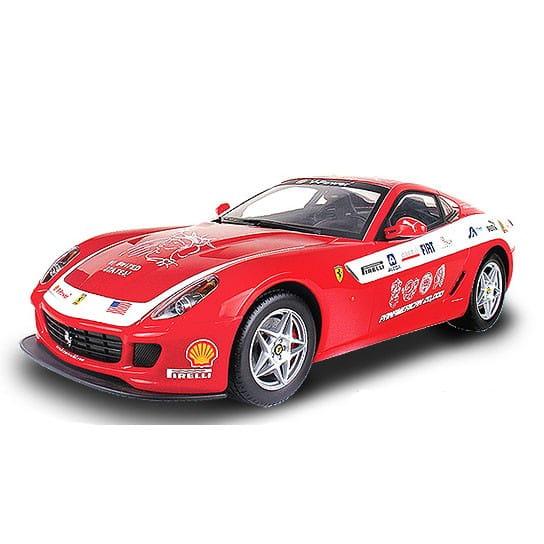 Купить Радиоуправляемая машина MJX Ferrari 599 GTB Fiorano 1:20 красная с белым в интернет магазине игрушек и детских товаров