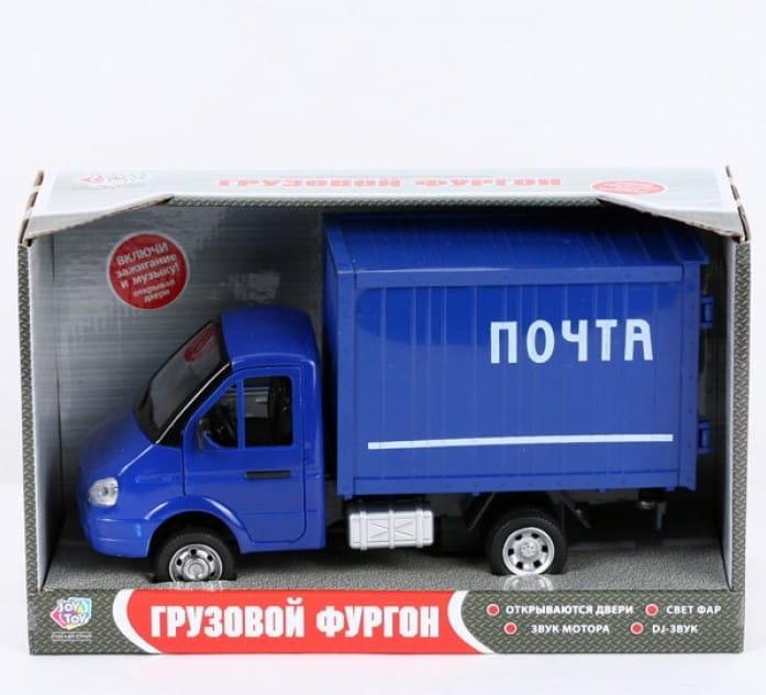 Инерционный автомобиль Play Smart Р40517 Газель фургон - Почта (24 см)