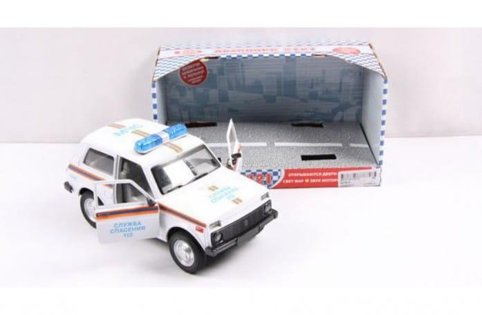 Инерционный автомобиль Play Smart Р40520 Автопарк - Нива ВАЗ 2121 МЧС (18 см)