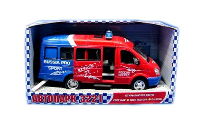 Инерционный автомобиль Play Smart Р40527 Автопарк Газель 3221 Спорт (23 см)