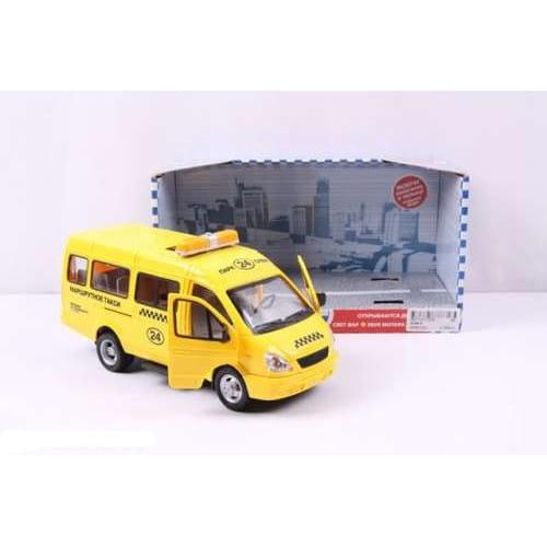 Инерционный автомобиль Play Smart Р40530 Автопарк - Газель 3221 Такси (23 см)
