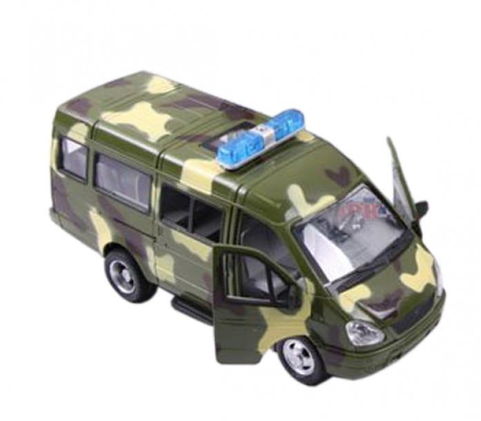Инерционный автомобиль Play Smart Р40531 Автопарк - Газель 3221 Военная (23 см)