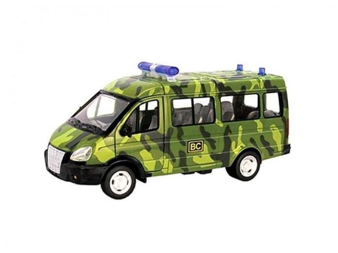 Инерционный автомобиль Play Smart Р41356 Автопарк - Газель 3221 Спецназ (19 см)