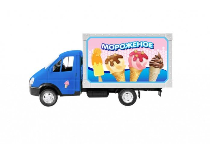 Инерционный автомобиль Play Smart Р41375 Автопарк - Мороженое (17 см)