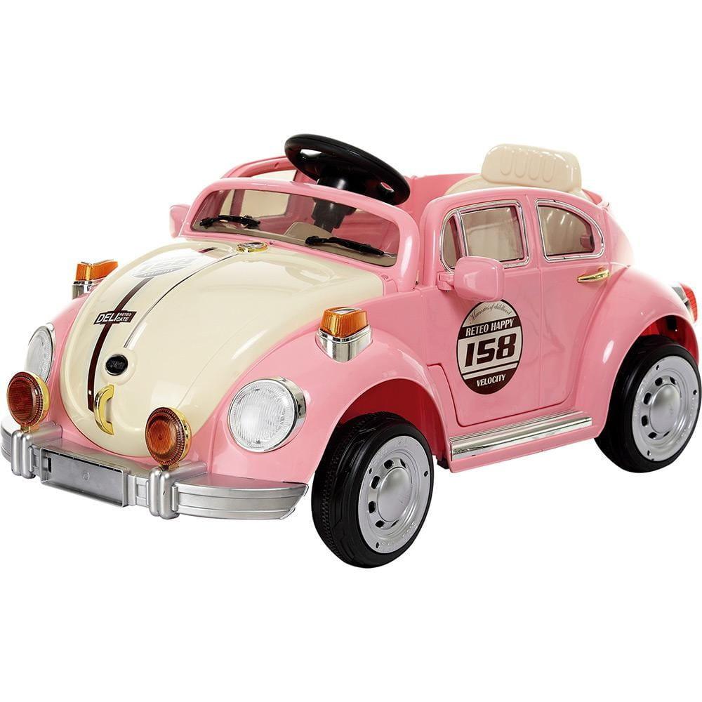 Электромобиль 1toy Т11040 Beetle - розовая