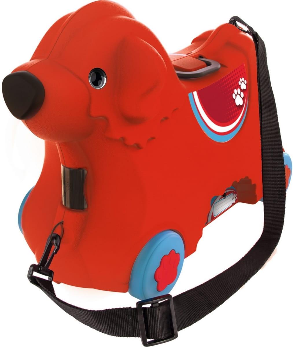 Детский чемодан Big на колесах - Собачка (красный)