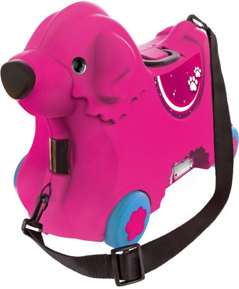 Детский чемодан Big на колесах - Собачка (розовый)