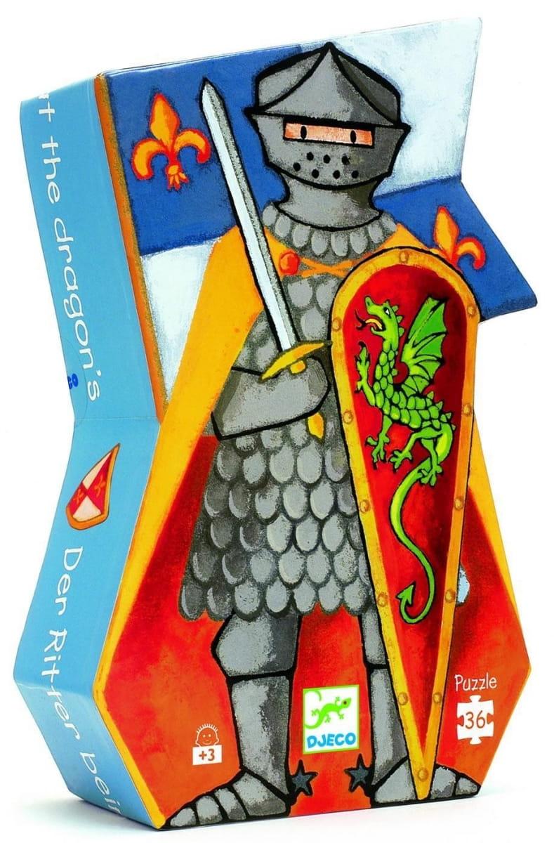 Пазл DJECO Рыцарь и дракон