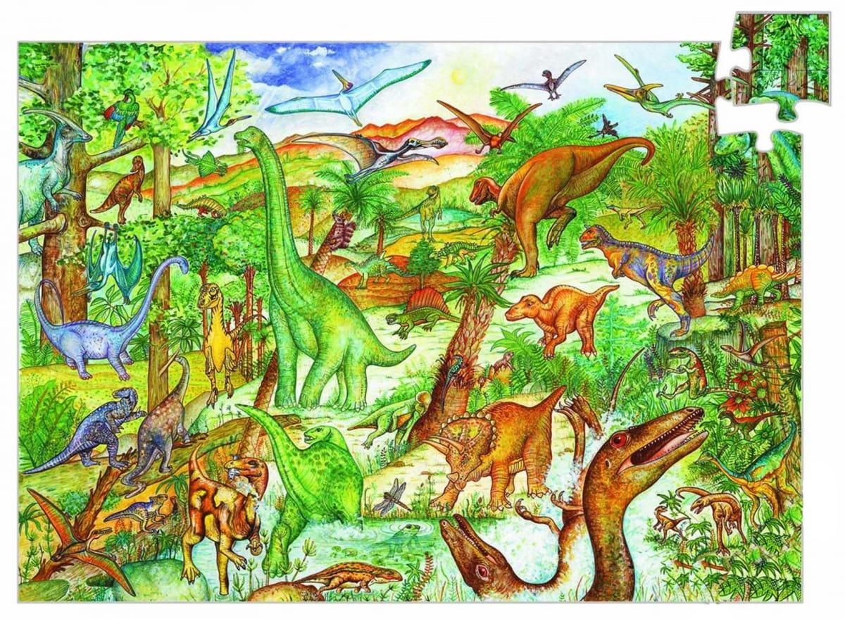 Пазл DJECO Динозавры (с буклетом)