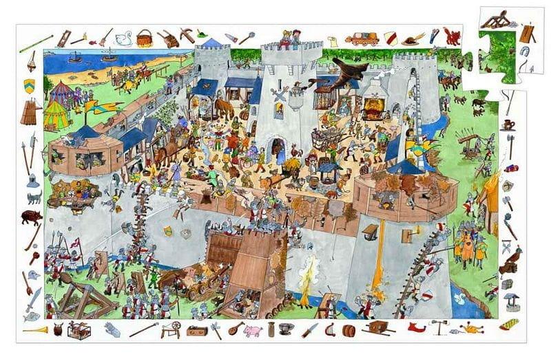 Пазл-игра на наблюдательность DJECO Замок-форт