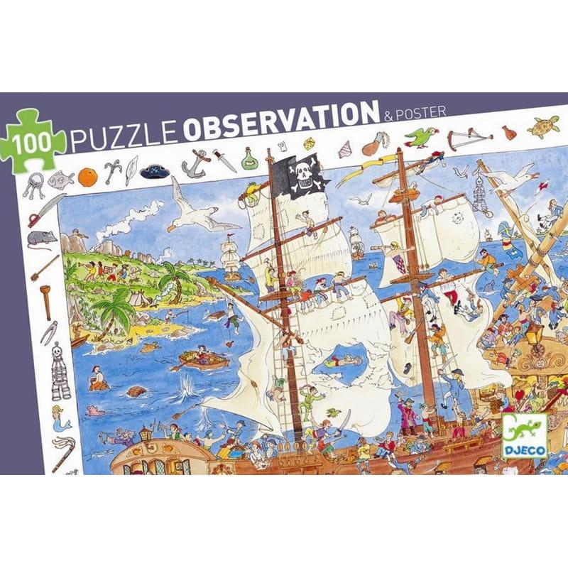 Пазл-игра на наблюдательность Djeco 07506 Пираты