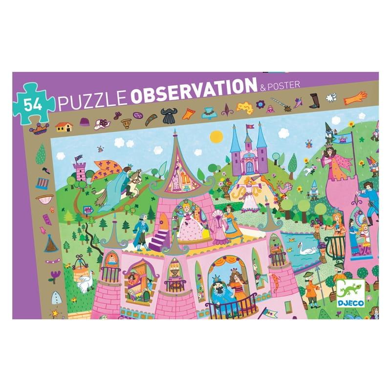 Пазл-игра на наблюдательность DJECO Принцессы