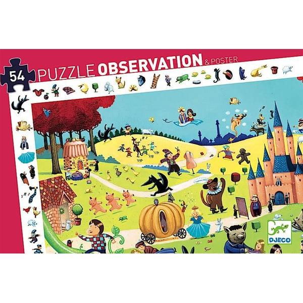 Пазл-игра на наблюдательность DJECO Сказки