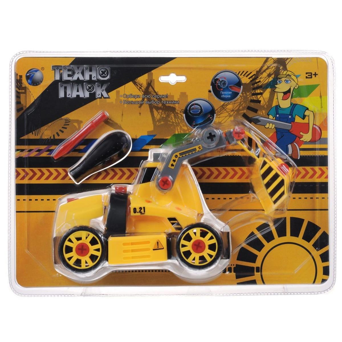 Конструктор TongDe В72177 Технопарк - Трактор с ковшом