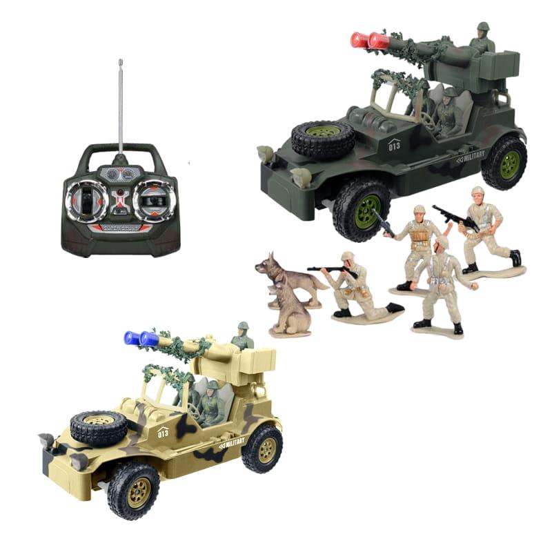 Радиоуправляемый автомобиль TongDe В72192 Военная разведка (с набором солдат)