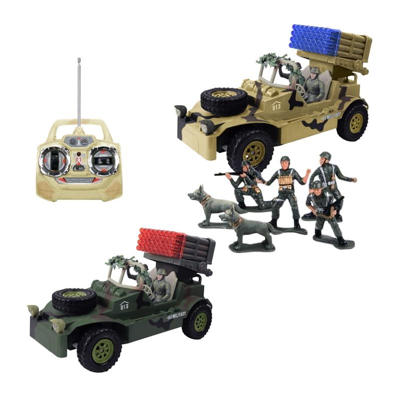 Радиоуправляемый автомобиль TongDe В72193 Военный ракетоносец (с набором солдат)