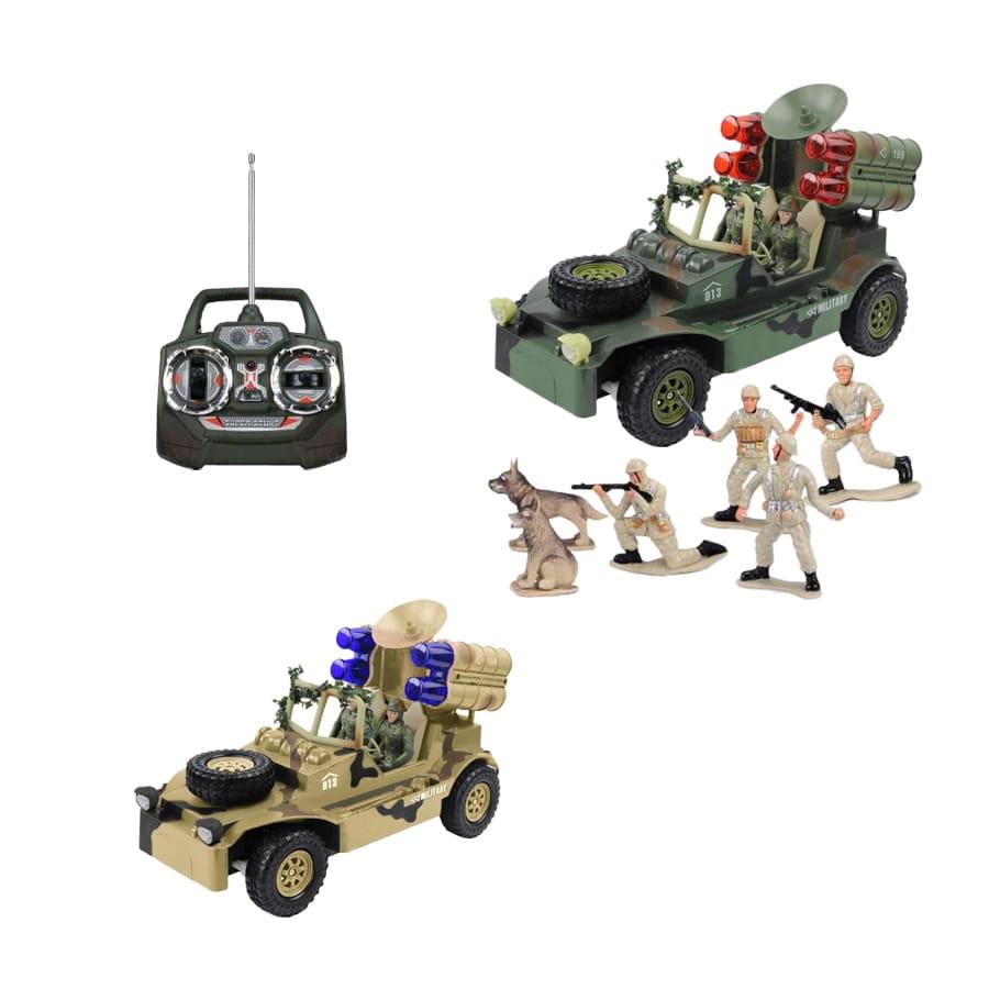 Радиоуправляемый автомобиль TongDe В72194 Военный связист (с набором солдат)