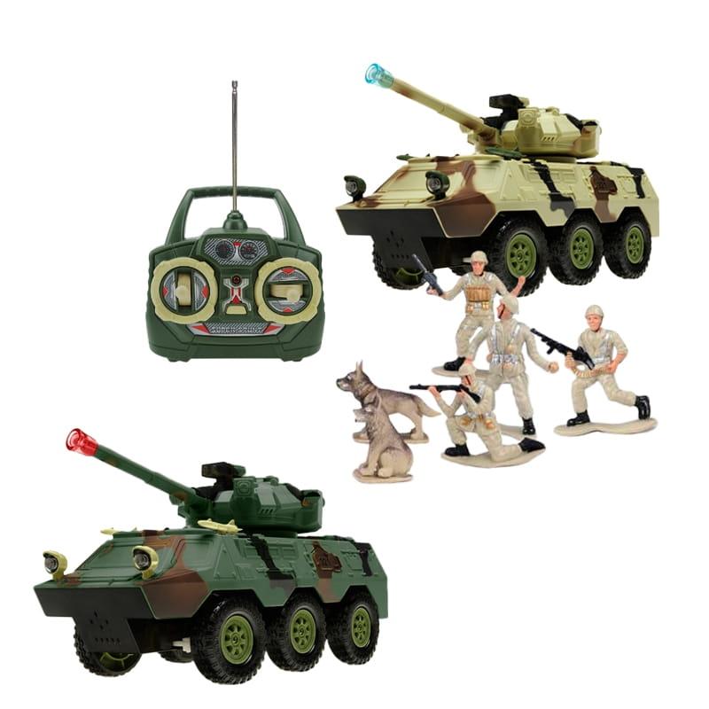 Радиуправляемый автомобиль TongDe В72197 Военный транспортер (с набором солдат)