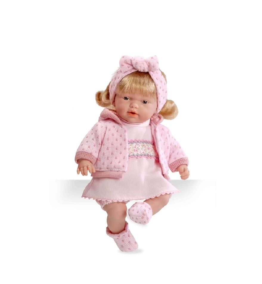 Пупс Arias Т58639 Блондинка в розовой одежке - 26 см