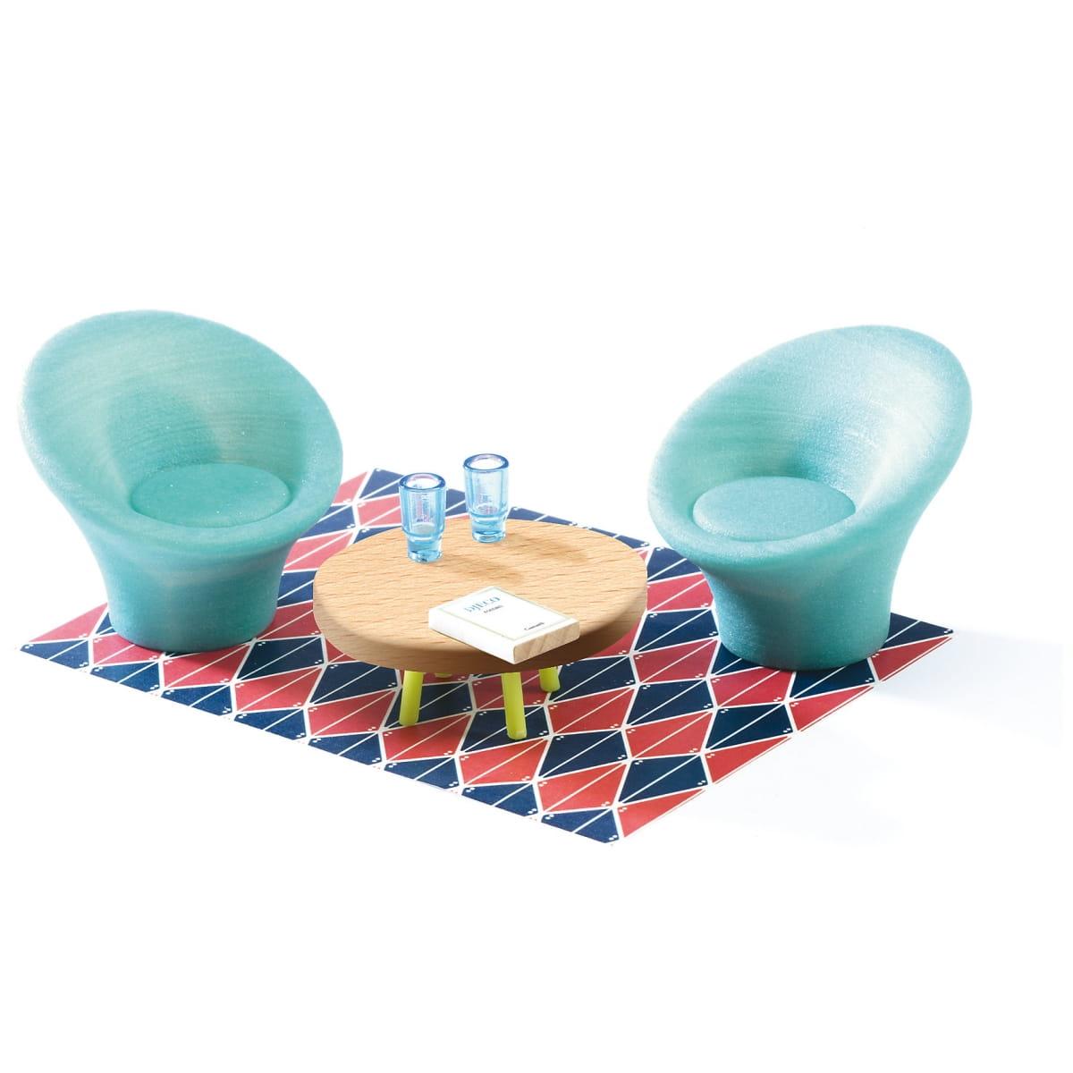 Набор мебели для домика Djeco 07821 Гостиная