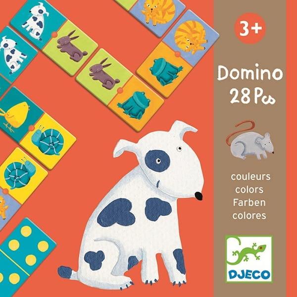 Настольная игра Djeco 08111 Домино Цветные животные