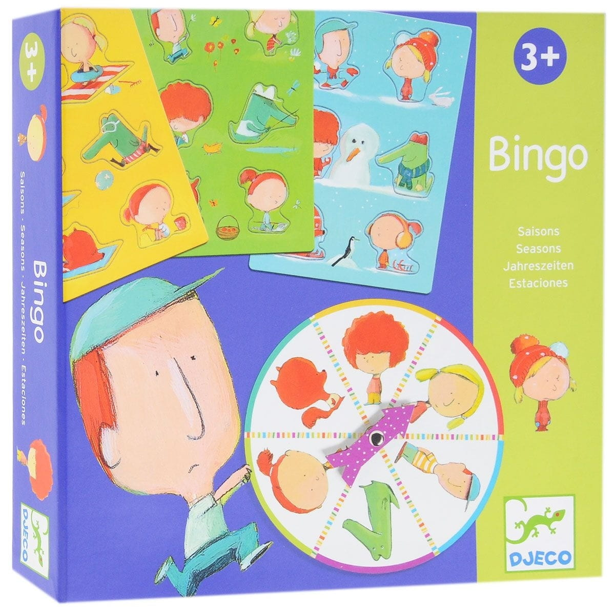 Настольная игра Djeco 08114 Бинго Времена года
