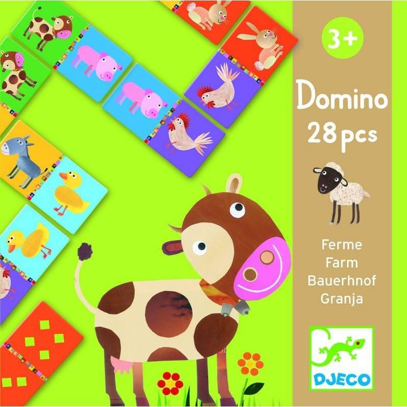 Настольная игра Djeco 08158 Домино Ферма