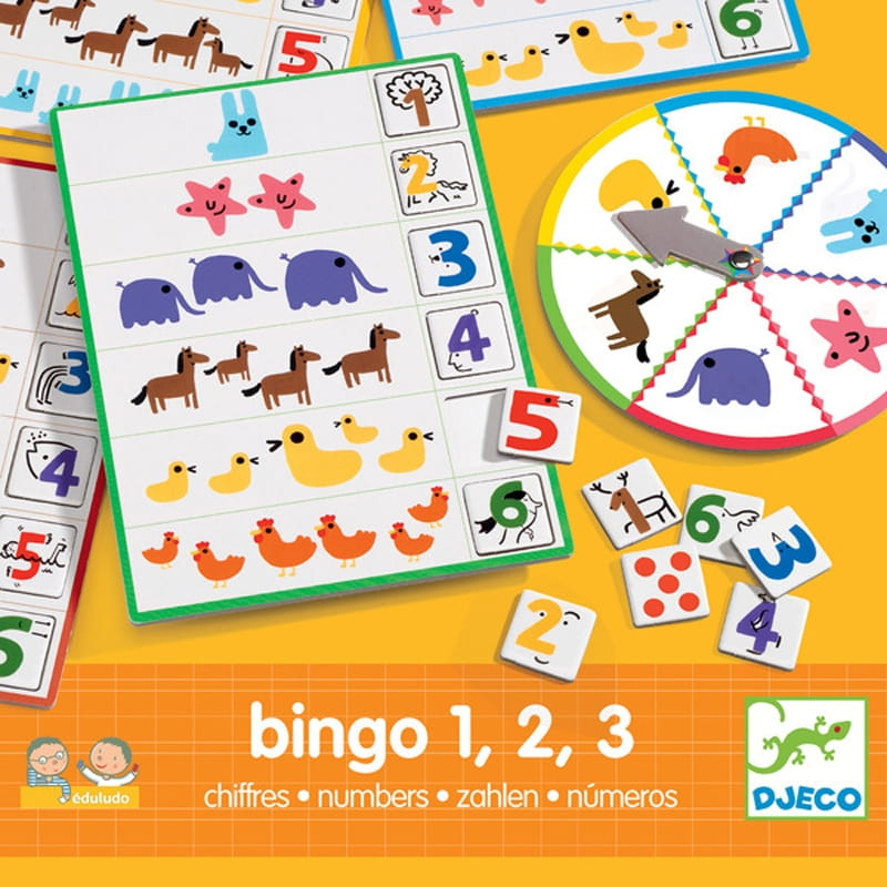 Развивающая игра Djeco 08318 Числа Бинго